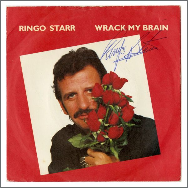 B27046 - Ringo Starr 1980s Autographed Wrack My Brain Single (UK)