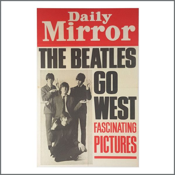 B27070 - The Beatles 1965 Daily Mirror Billboard Poster (UK)