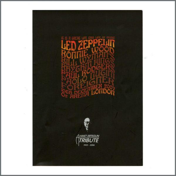 B27074 – Led Zeppelin 2007 Ahmet Ertegun Tribute Concert Programme, Ticket Stub & Wristband (UK) 2