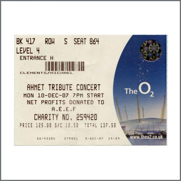 B27074 – Led Zeppelin 2007 Ahmet Ertegun Tribute Concert Programme, Ticket Stub & Wristband (UK) 3