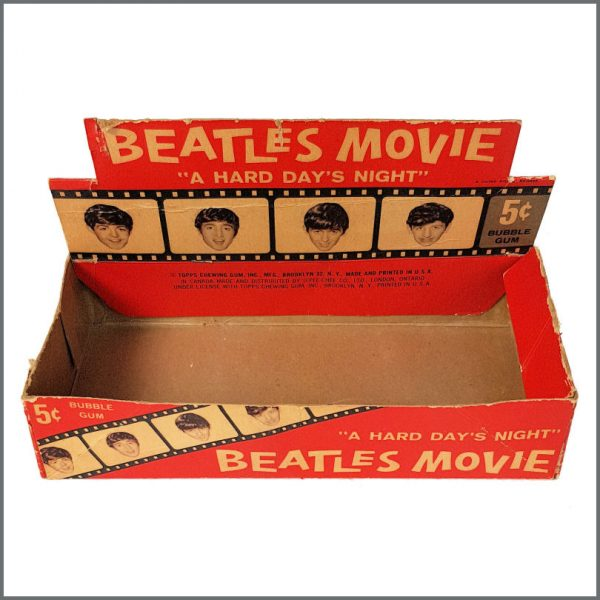 B27077 - The Beatles 1964 A Hard Day's Night Topps Trading Cards Shop Display Box (USA)