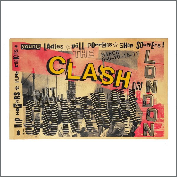 B27079 - The Clash 1984 Out of Control Promotional Tour Poster (UK)