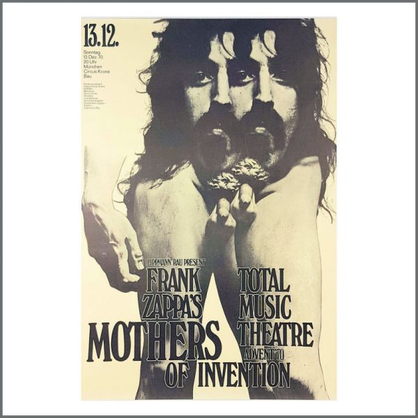 B27098 - Frank Zappa & The Mothers Of Invention 1970 Munich Concert Poster (Germany)