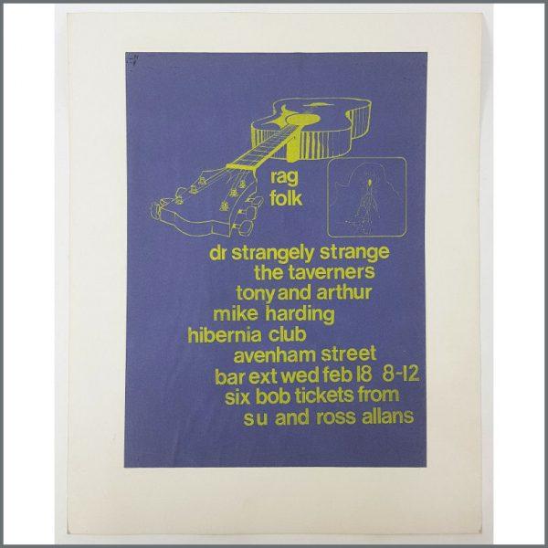 B27109 - Rag Folk 1970 Preston Hibernia Club Promotional Poster (UK)