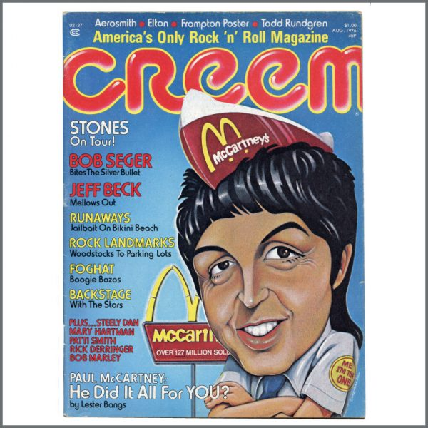 B27126 - Paul McCartney 1976 Creem Magazine (USA)