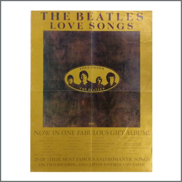B27133 - The Beatles 1977 Love Songs Capitol Records Promotional Poster (USA)