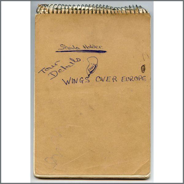 B27135 - Paul McCartney 1976 Wings Over Europe Fan Notepad (UK)