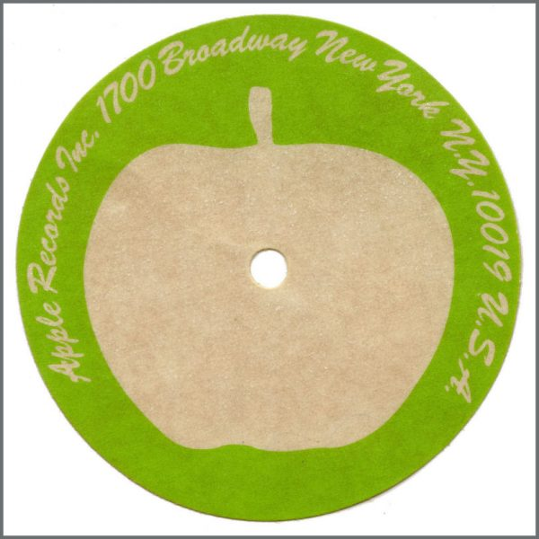 B27137 - Apple Records Single Acetate Label (USA)