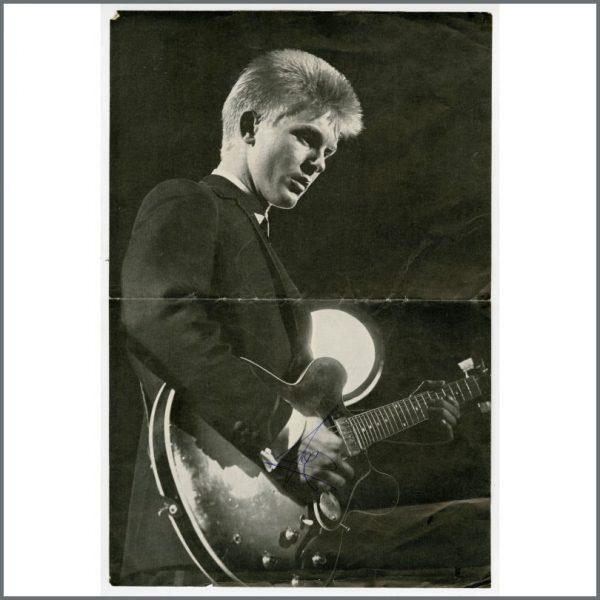 B27152 - Joe Brown 1963 Pop Weekly Page Autograph (UK)