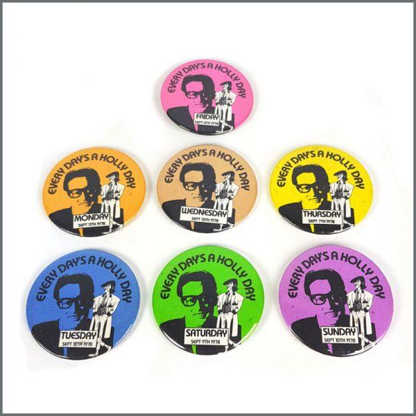 B27157 - Paul McCartney 1978 Buddy Holly Week Pin Badge Set (UK)