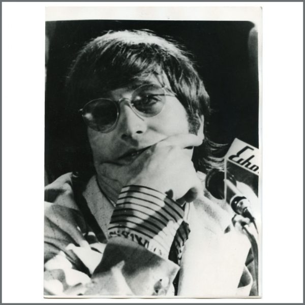 B27165 - John Lennon 1966 Hamburg Press Conference Vintage Photograph (Germany)