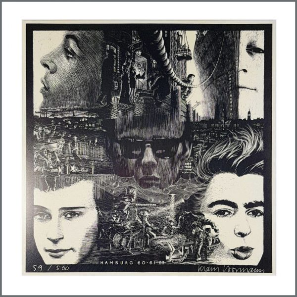 B27176 - The Beatles Klaus Voormann Signed Limited Edition Poster Hamburg 60-61-62 59/500 (Germany)