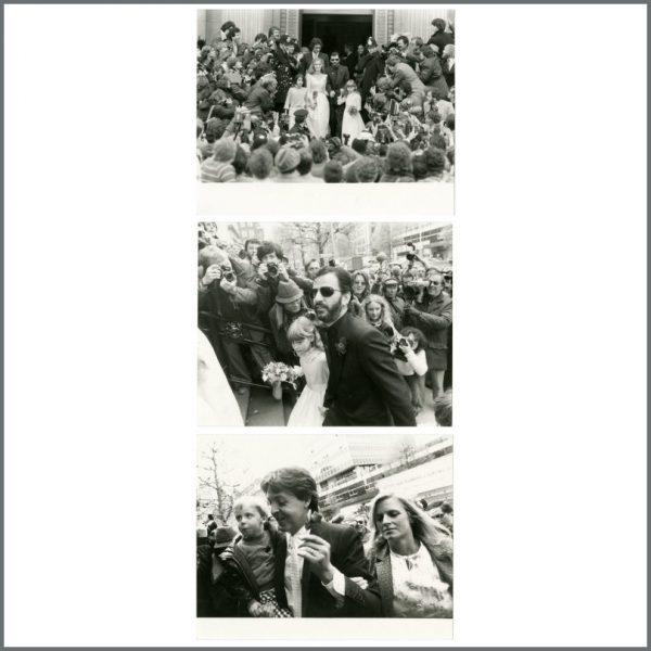 B27187 - Ringo Starr & Barbara Bach 1981 Wedding Photographs (UK)