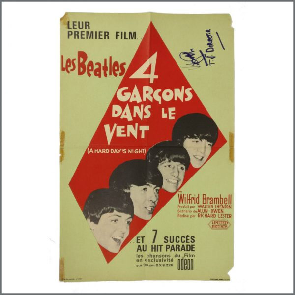 B27191 - The Beatles 1965 Victor Spinetti Signed Help! Promotional Poster (France)