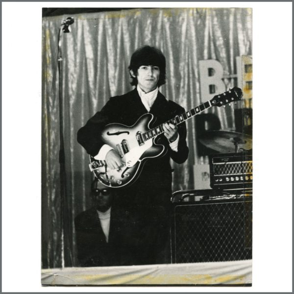 B27193 - George Harrison 1966 Vintage Essen Beatles Blitztournee Photograph (Germany)