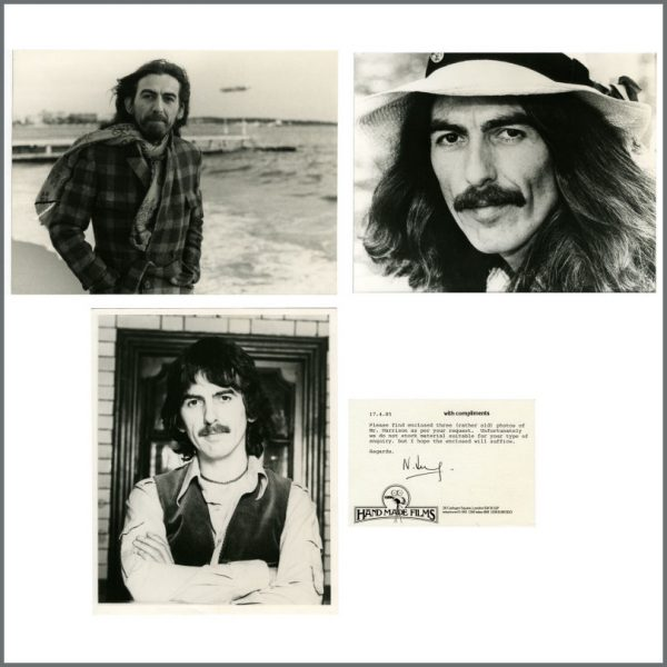 B27208 - George Harrison 1985 Promotional Photographs & Handmade Films Compliments Slip (UK)