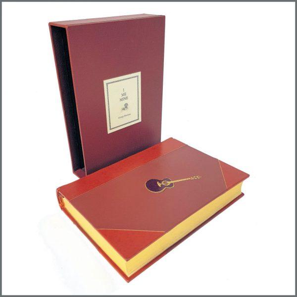 B27210 - Genesis Publications George Harrison I Me Mine Book Chestnut Brown Cover (UK)