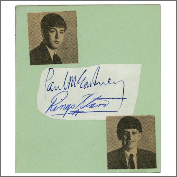 B27262 - The Beatles 1963 Paul McCartney & Ringo Starr Autographs (UK)