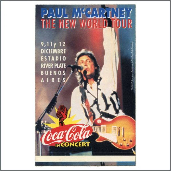 B27296 - Paul McCartney 1993 Buenos Aires New World Tour Promotional Sticker (Argentina)