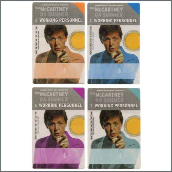 B27305 - Paul McCartney 2004 Summer Tour Unused Working Personnel Passes (Europe)