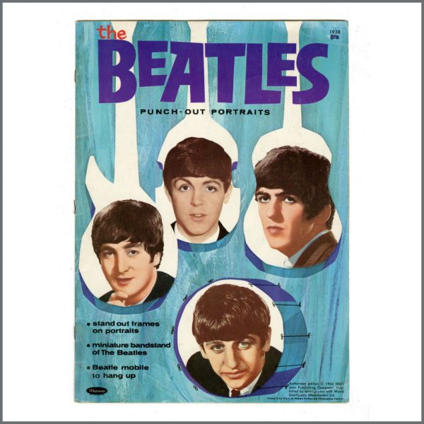 B27313 - The Beatles 1964 Whitman Punch-Out Portraits Book (USA)