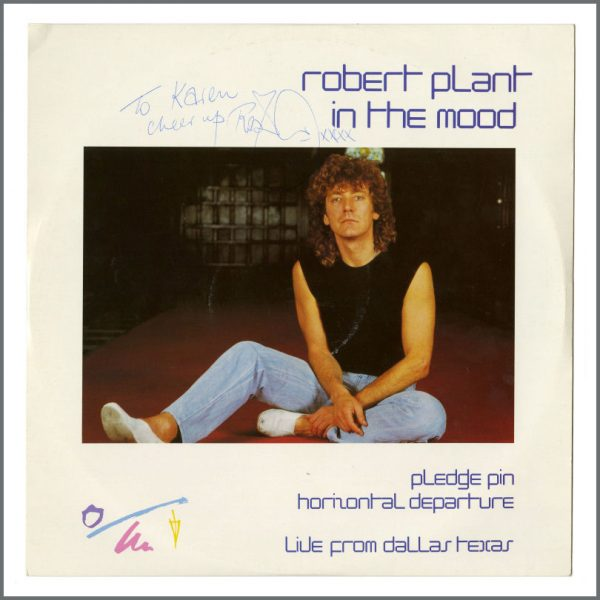 B27316 - Robert Plant 1983 Autographed In The Mood 12 Inch Single (UK)