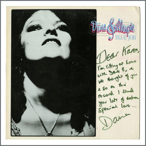 B27319 - Dana Gillespie 1982 Autographed Blue Job LP (UK)