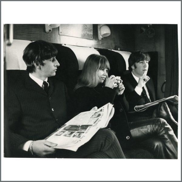 B27323 - John Lennon, Ringo Starr & Astrid Kirchherr 1964 A Hard Day's Night Vintage Photograph (Germany)