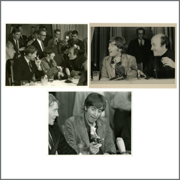 B27325 - John Lennon 1966 How I Won The War Hamburg Press Conference Photographs (Germany)