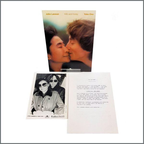 B27339 - John Lennon & Yoko Ono 1984 Milk and Honey Polydor Promotional Press Kit (France)