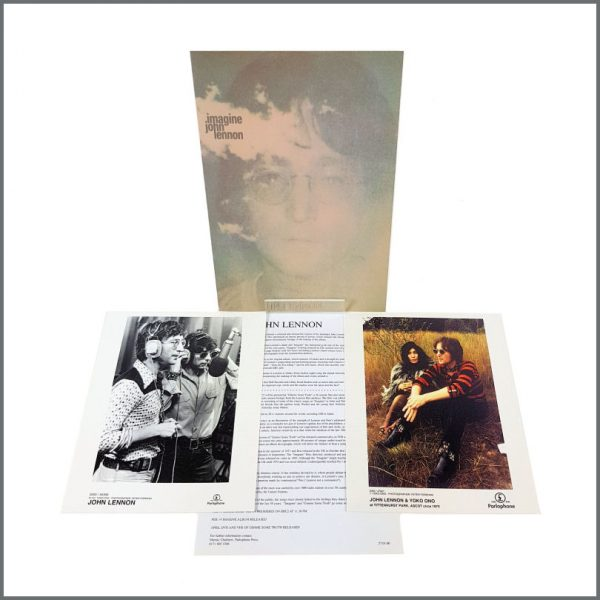 B27344 – John Lennon 2000 Imagine Re-Mastered Parlophone Promotional Press Kit (UK) 1