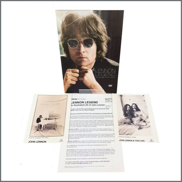 B27345 – John Lennon 2003 Lennon Legend DVD Parlophone Promotional Press Kit (UK) 1