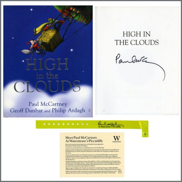 B27366 - Paul McCartney 2005 Autographed High In The Clouds Book (UK)