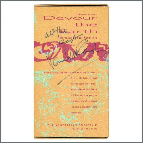 B27371 - Paul McCartney Autographed Devour The Earth VHS (UK)