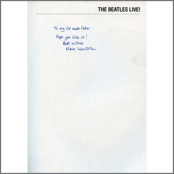 B27376 – The Beatles Live! 1986 Mark Lewisohn Autographed Softback Book (UK) 2