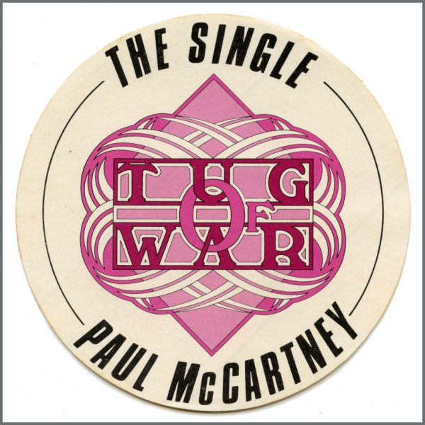 B27382 - Paul McCartney 1982 Tug Of War Promotional Sticker (UK)