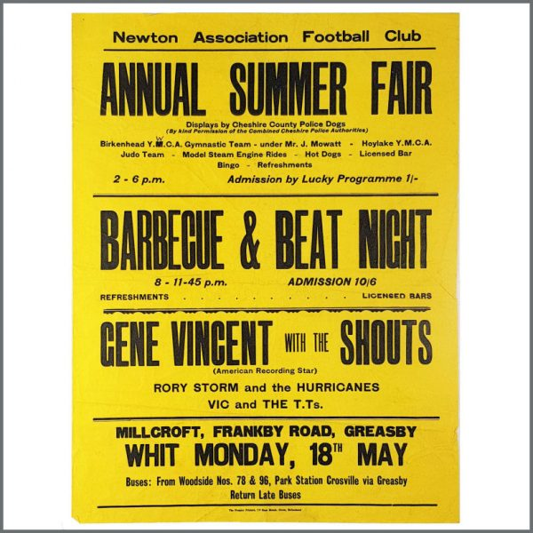 B27385 - Rory Storm & The Hurricanes 1964 Greasby Annual Summer Fair Concert Poster (UK)