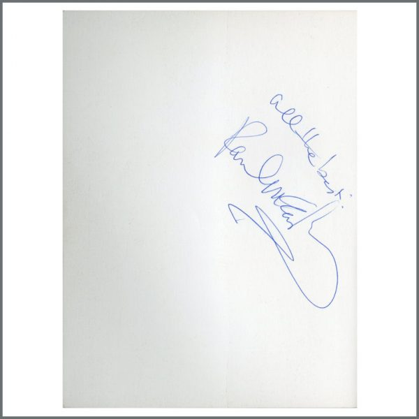 B27391 - Paul McCartney Autographed Give My Regards To Broad Street Book (UK)
