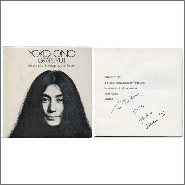 B27396 - Yoko Ono 1996 Autographed Grapefruit Hardback Book (UK)