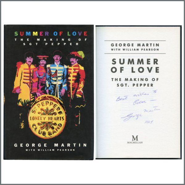 B27397 - George Martin 1997 Autographed Summer Of Love Hardback Book (UK)