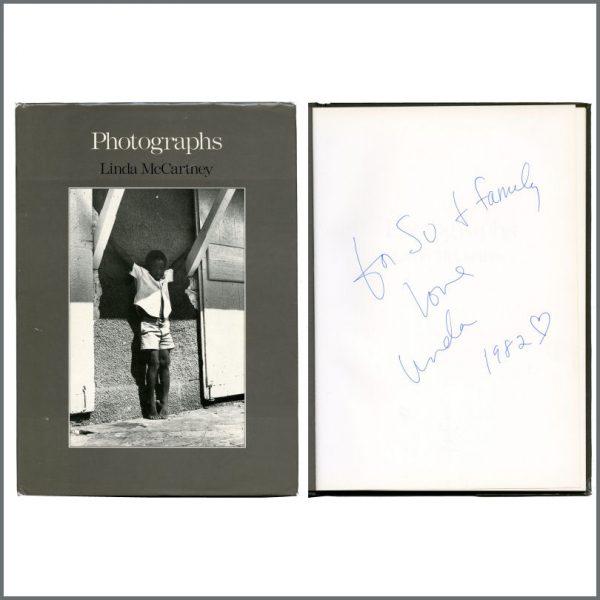 B27411 - Linda McCartney 1982 Autographed Photographs Hardback Book (USA)