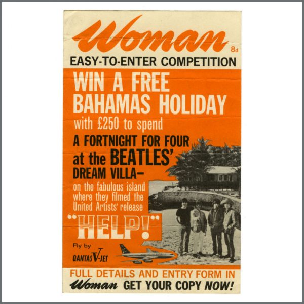 B27416 - The Beatles 1965 Help! Magazine Competition Flyer (UK)