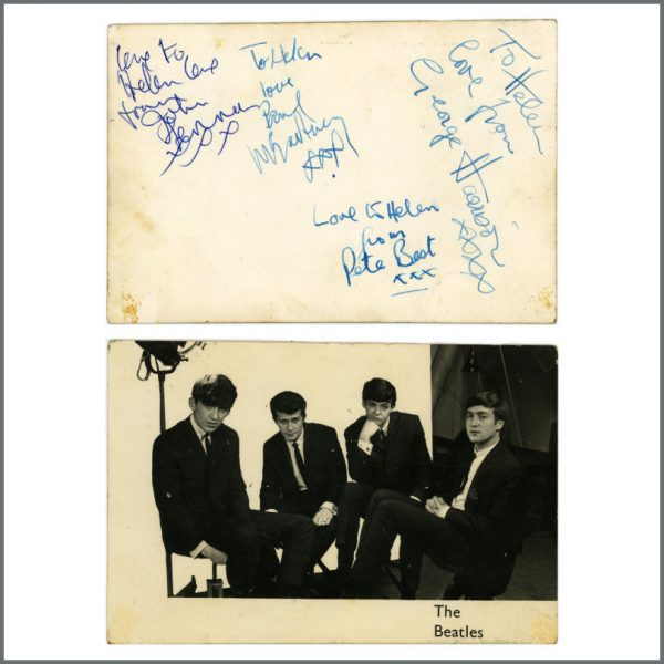 B27428 - The Beatles & Pete Best 1962 Autographed Promotional Card (UK)