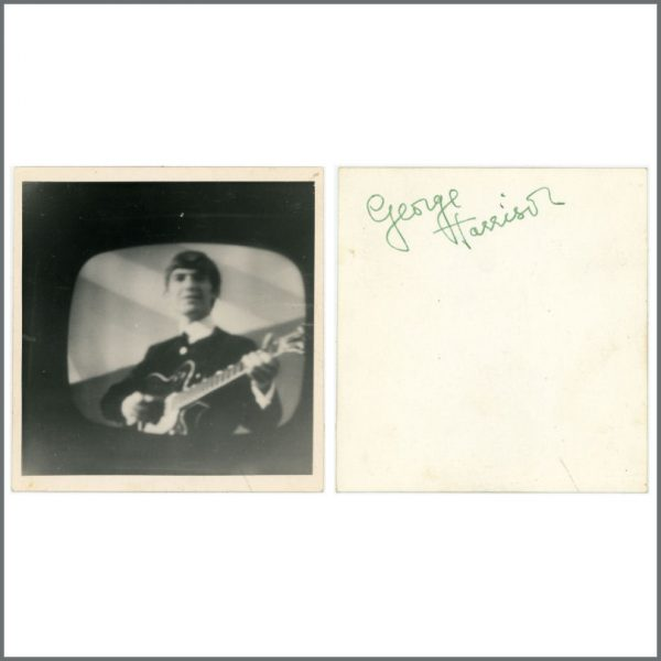 B27429 - George Harrison Autographed Snapshot Photograph (UK)