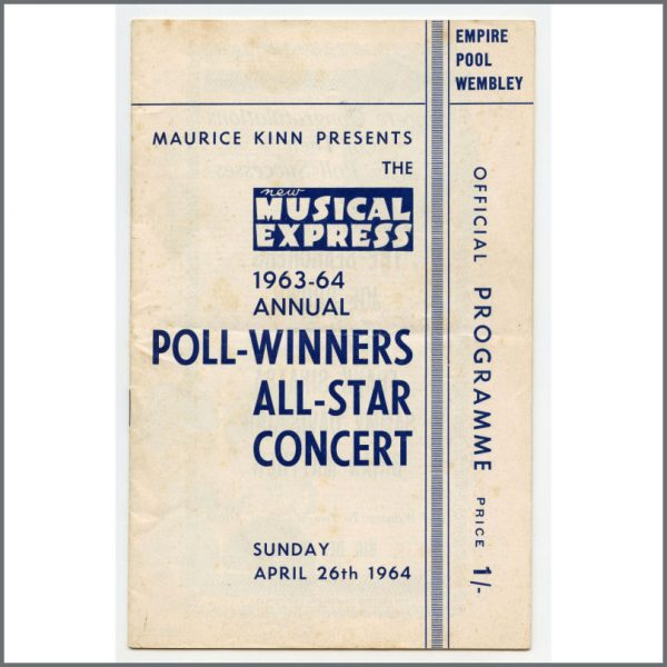 B27464 - The Beatles / Rolling Stones 1964 NME Poll-Winners All-Star Concert Programme (UK)
