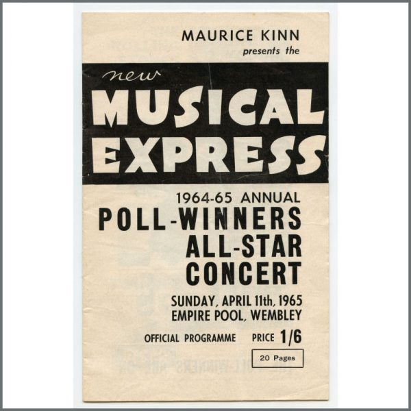 B27465 - The Beatles / Rolling Stones 1965 NME Poll-Winners All-Star Concert Programme (UK)