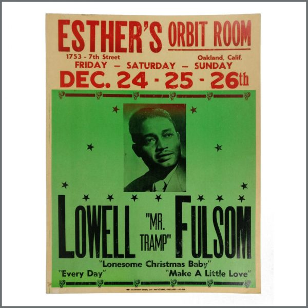 B27470 - Lowell Fulson Esther's Orbit Room Oakland California Concert Poster (USA)