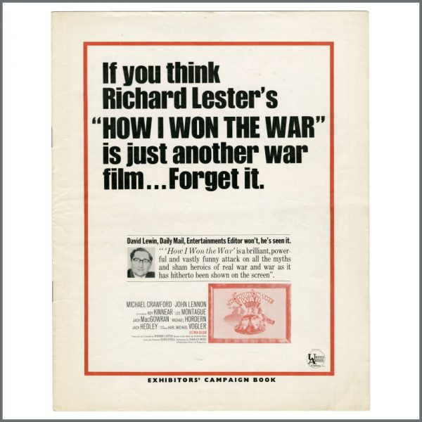 B27488 – John Lennon 1967 How I Won The War Exhibitor's Campaign Book (UK) 1