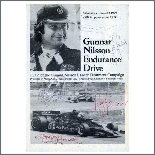 B27496 - George Harrison Jethro Tull 1979 Autographed Motor Racing Programme (UK)