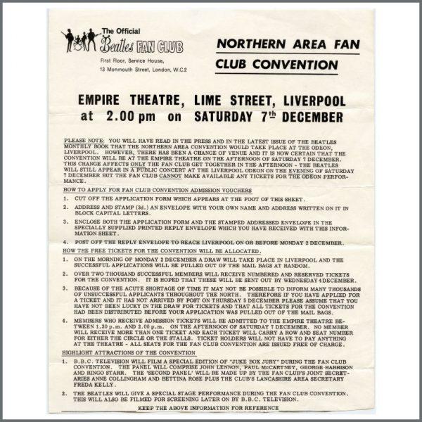 B27504 – The Beatles 1963 Fan Club Letters & Envelope (UK) 2